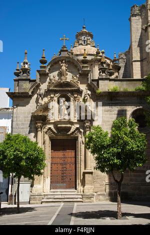 Andalusia, Spain, Europe, outside, day, Jerez de la Frontera, Costa de la Luz, nobody, church, building, construction, - Stock Photo