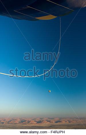 Breathtaking View. Hot Air Balloon flight over Sesriem, Namibia. - Stock Photo