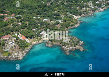 Aerial, Mahe, Seychelles, Africa, - Stock Photo
