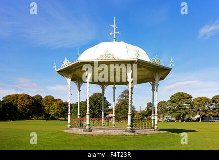 A view of the bandstand in Duthie Park, Aberdeen, Aberdeenshire, Scotland, United Kingdom. - Stock Photo