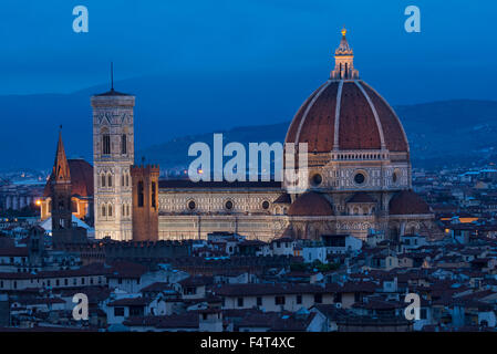 Europe, Italy, Tuscany, Toscana, Firence, Florence, Cathedral of Saint Mary of the Flower Cattedrale di Santa Maria - Stock Photo
