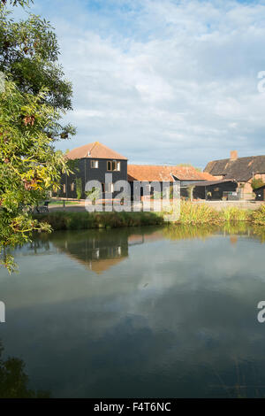 Farm stay cottages at Cratfield Suffolk England - Stock Photo