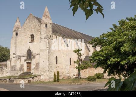 Benedictine Bourgueil Abbey (Abbaye Saint-Pierre de Bourgueil-en-Valle), Indre at Loire, France - Stock Photo