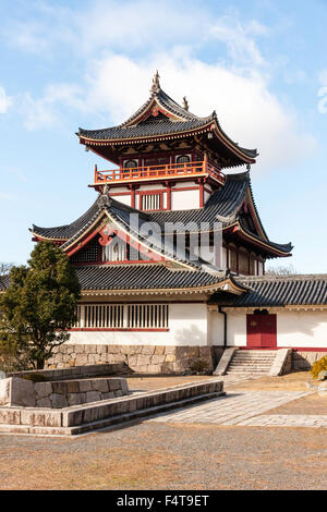 Japan, Kyoto, Fushimi castle, also known as Momoyama castle. Built as a Castle Entertainment Park in 1964. Castle - Stock Photo