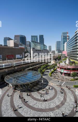 Japan, Tokyo City, Yurakucho Station, Bullet Train - Stock Photo