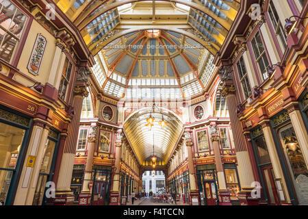 England, London, City, Leadenhall Market - Stock Photo