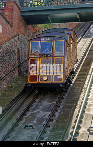 mount Buda, cable railway, Budavari Siklo - Stock Photo