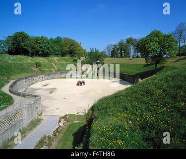 Germany, Europe, Rhineland-Palatinate, Trier, UNESCO, world cultural heritage, amphitheater, Roman, antiquity, - Stock Photo
