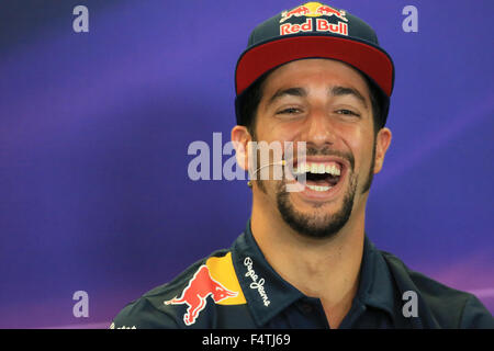 22.10.2015. Circuit of the Americas, Austin Texas, USA. Formula 1 Grand Prix. Drivers arrival and press conference. - Stock Photo