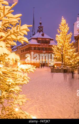 Winter, town, Stein am Rhein, - Stock Photo