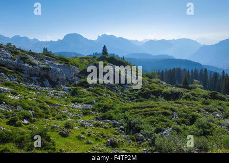 Karst on Pragel pass, Schwyz, Switzerland - Stock Photo