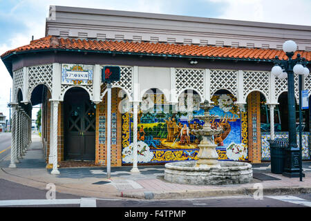 Historic columbia restaurant in ybor city tampa florida for City of tampa mural