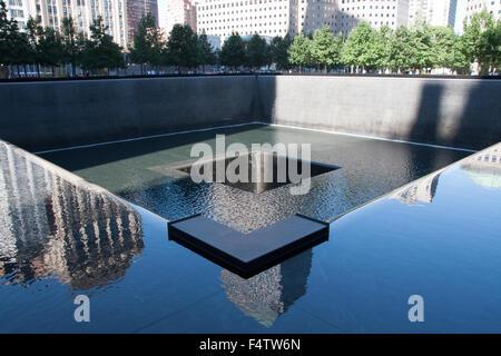 9/11 Memorial Pool - Stock Photo