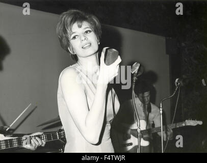 The Italian singer Iva Zanicchi performing - Stock Photo