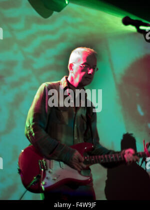 John O Neil playing with Red Flare - Stock Photo