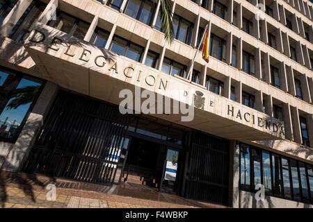 The Delegacion de Hacienda, tax office in Santa Cruz, Tenerife, Canary Islands, Spain. - Stock Photo