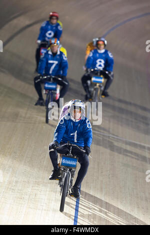 London, UK. 22nd October, 2015. Derney Riders #1 Herman Bakker (NED), #7 Michel Vaarten (BEL),  #8 Ron Zijlaard - Stock Photo