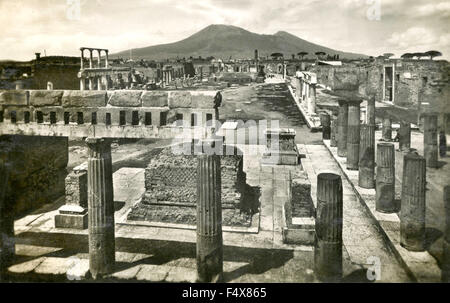 The Civil Forum in Pompeii, Italy - Stock Photo