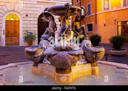 Fontana delle tartarughe in piazza Mattei, Rome Italy - Stock Photo