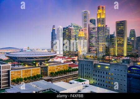 Singapore skyline. - Stock Photo