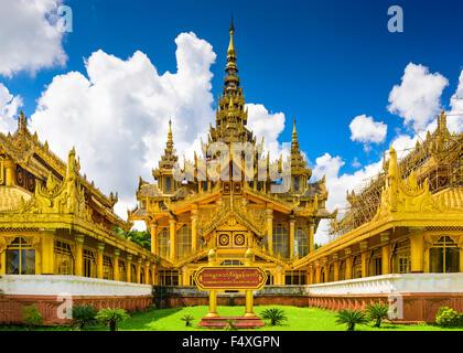 Bago, Myanmar at Kambawzathardi Golden Palace. - Stock Photo