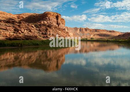 Colorado River near Moab, Utah, USA - Stock Photo