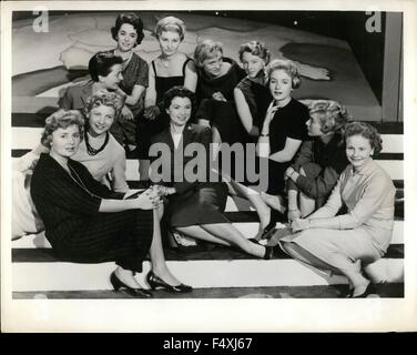 1954 - Europe's Tele-Visions: Girls from ten countries who are seen on the television screens of Europe recently - Stock Photo