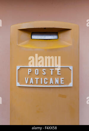 Mailbox of Poste Vaticane, the postal service of sovereign Vatican City, outside the top floor of St Peter's Basilica, - Stock Photo