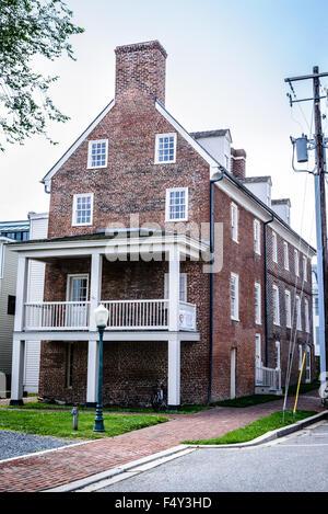 Washington College C.V. Starr Center, Customs House, corner High Street & Front Street, Chestertown, Maryland - Stock Photo