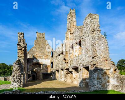 The 12thC Premonstratensian Egglestone Abbey, near Barnard Castle, County Durham, England, UK - Stock Photo