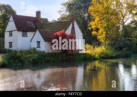 Willy Lott's Cottage, Flatford, Suffolk, England, UK, - Stock Photo