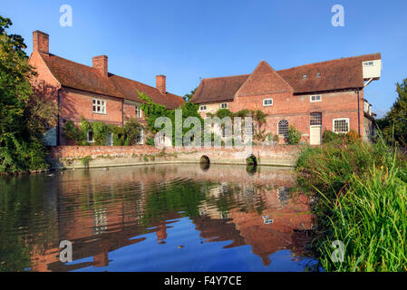 Flatford Mill, Suffolk, England, UK - Stock Photo