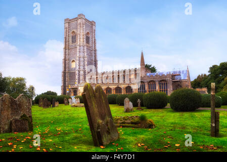 St Peter and St Paul's Church, Lavenham, Suffolk, England, United Kingdom - Stock Photo
