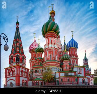 A view of the St. Basil's Cathedral, Russia, Moscow - Stock Photo