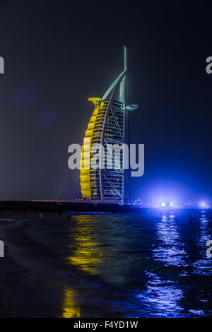 DUBAI, UAE - NOVEMBER 14 :The world's first seven stars luxury hotel Burj Al Arab, November 14, 2012 in Dubai, United - Stock Photo