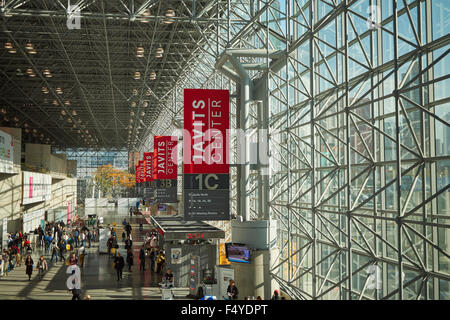 Main Lobby, TheJacob J. Javits Convention Center, Manhattan, New York City, USA - Stock Photo