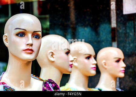 Female mannequin in the street. - Stock Photo