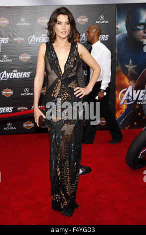 Cobie Smulders at the Los Angeles Premiere of 'Marvel's The Avengers' held at the El Capitan Theater, California, - Stock Photo