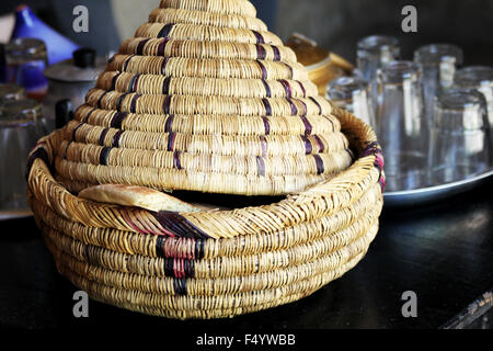 Wicker ware and other dishes - Stock Photo