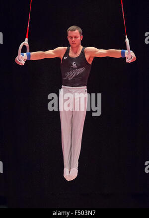 Glasgow, Scotland. 25th Oct, 2015. FIG Artistic Gymnastics World Championships. Day Three. Mikhail KOUDINOV (NZL) - Stock Photo