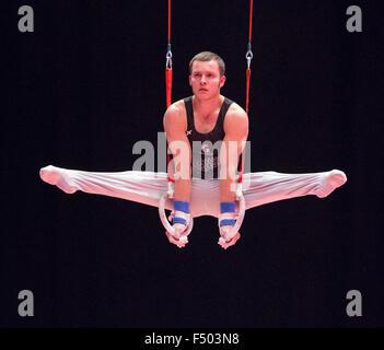 Glasgow, Scotland. 25th Oct, 2015. FIG Artistic Gymnastics World Championships. Day Three. Devy DYSON (NZL) on the - Stock Photo