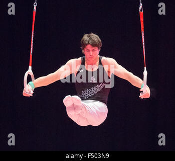 Glasgow, Scotland. 25th Oct, 2015. FIG Artistic Gymnastics World Championships. Day Three. David BISHOP (NZL) on - Stock Photo