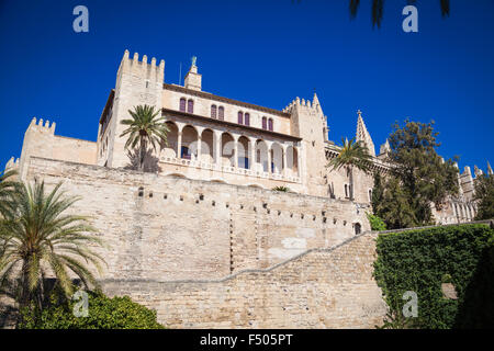 Cathedral San Seu in Palma de Mallorca - Stock Photo