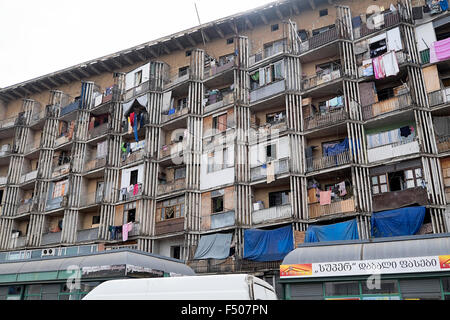 Modern Opposite Housing Above Shops In Central Tbilisi Opposite The Modern Ground