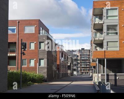 Jattavagen, Stavanger Norway, former industrial area now converted to modern living on the fjord - Stock Photo