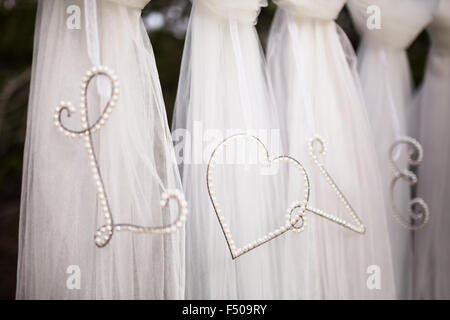The word 'Love' spelled out in a wedding decoration - Stock Photo