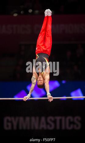 Glasgow, Scotland. 25th Oct, 2015. FIG Artistic Gymnastics World Championships. Day Three. Marcel NGUYEN (GER) on - Stock Photo