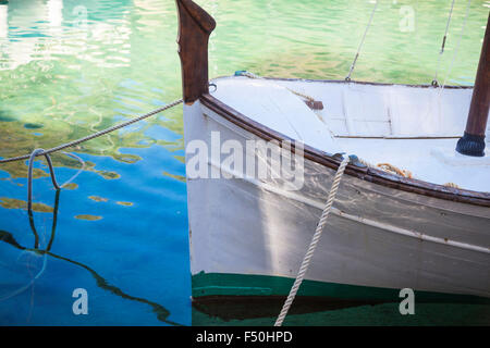 Boats in the harbour of Cala Figueira, Mallorca