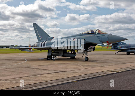 A Royal Air Force Eurofighter Typhoon FGR.4 ZK308/TP-V of 29(R) Squadron RAF Coningsby, Lincolnshire, United Kingdom. - Stock Photo