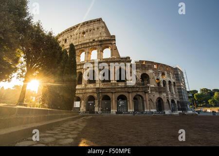 Coliseum in Rome at sunrise